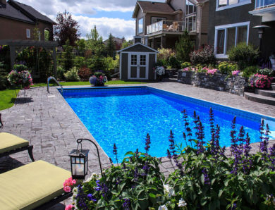 Calgary Landscaping Dream Yard With A Pool In Heritage Point, Calgary