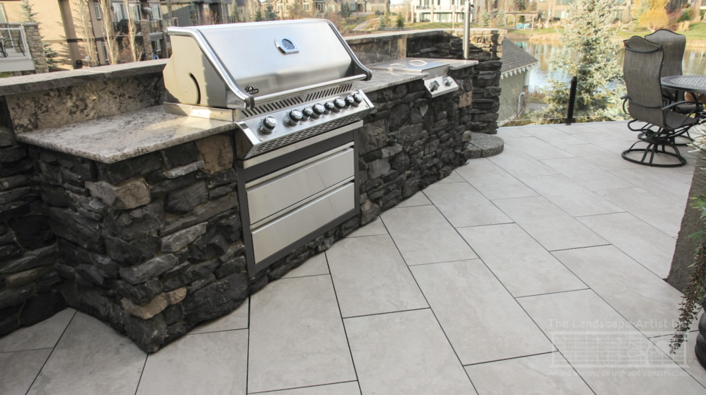 New upper deck developed with an outdoor kitchen