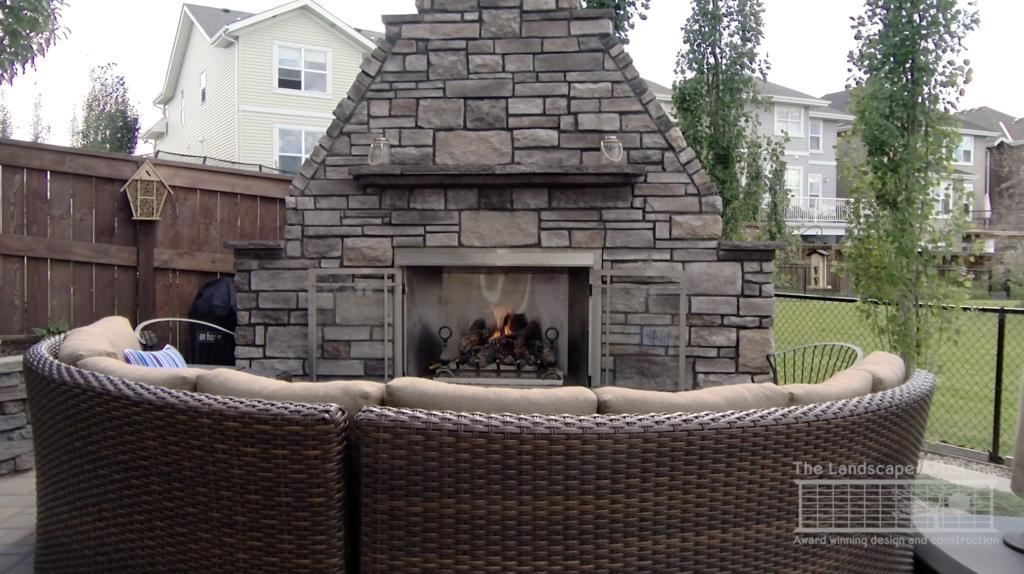 Calgary Outdoor fireplace example