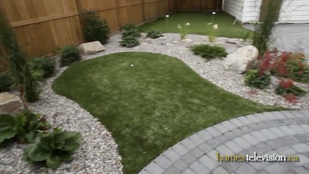 Putting Green installed by The Landscape Artist in Calgary