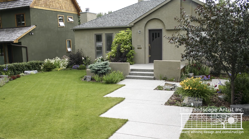 Unique Frontyard Sidewalks by The Landscape Artist