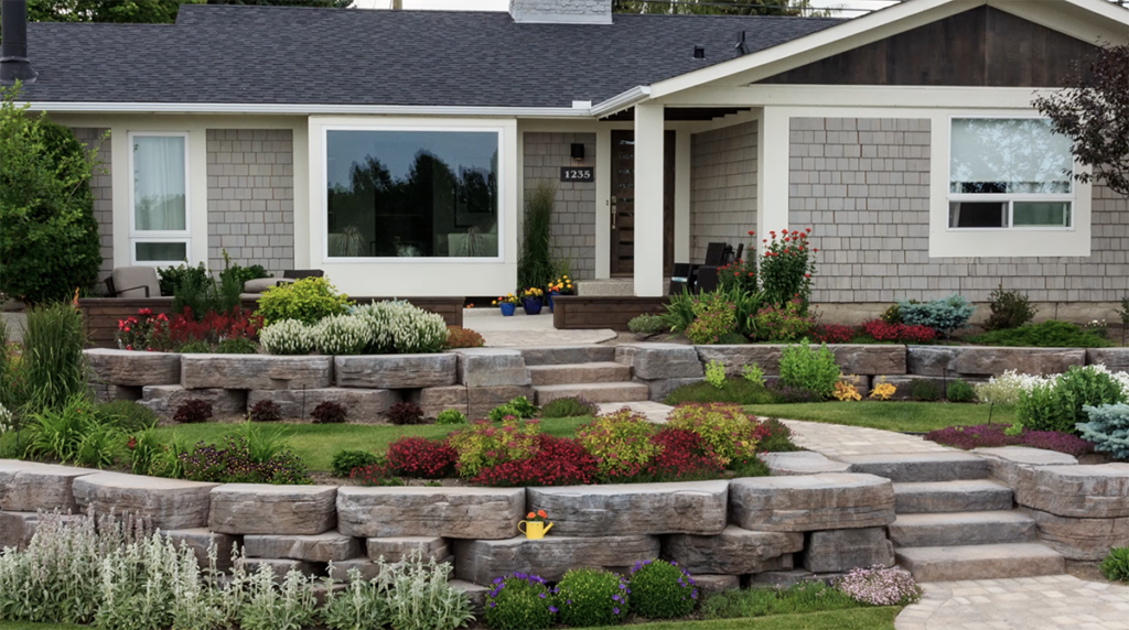 Front Yard Retaining Wall - The Landscape Artist