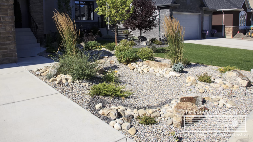 Low Maintenance Front Yard Photo from The Landscape Artist in Calgary