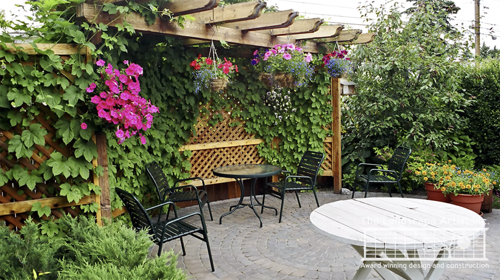 Small Yard Landscaping with a Pergola